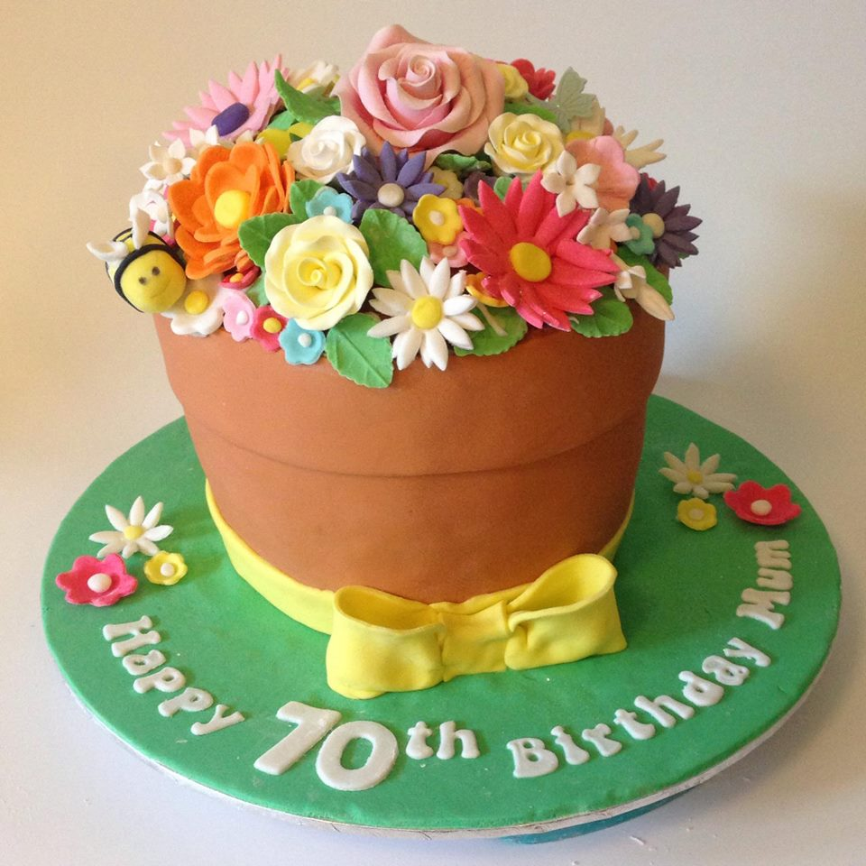 Flower pot birthday cake three sweeties flower pot birthday cake izmirmasajfo