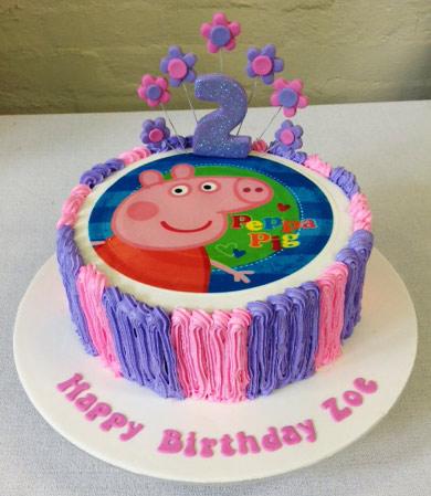 Superb Peppa Pig Birthday Cake Three Sweeties Funny Birthday Cards Online Hendilapandamsfinfo