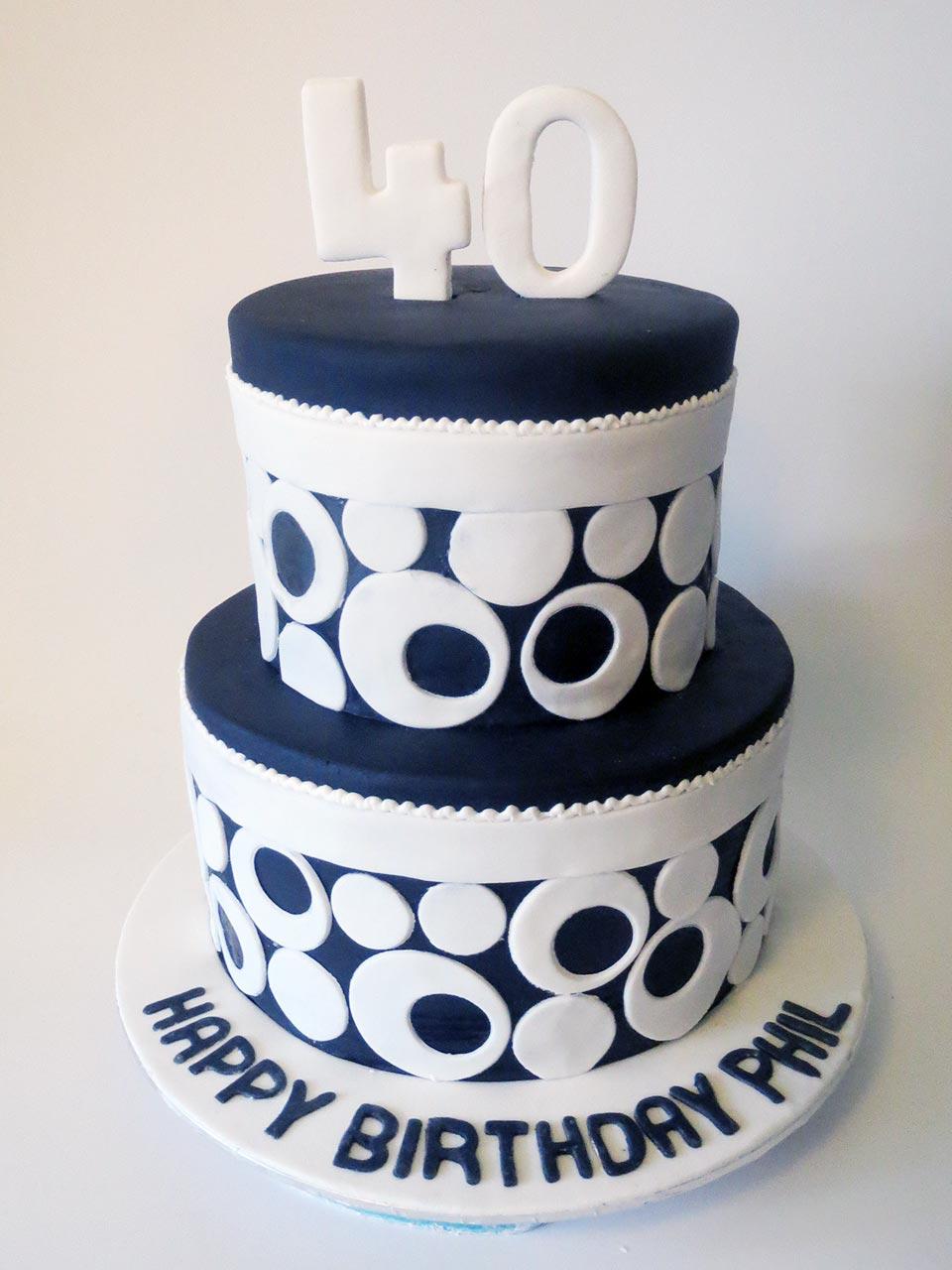 Retro Birthday Cake Three Sweeties