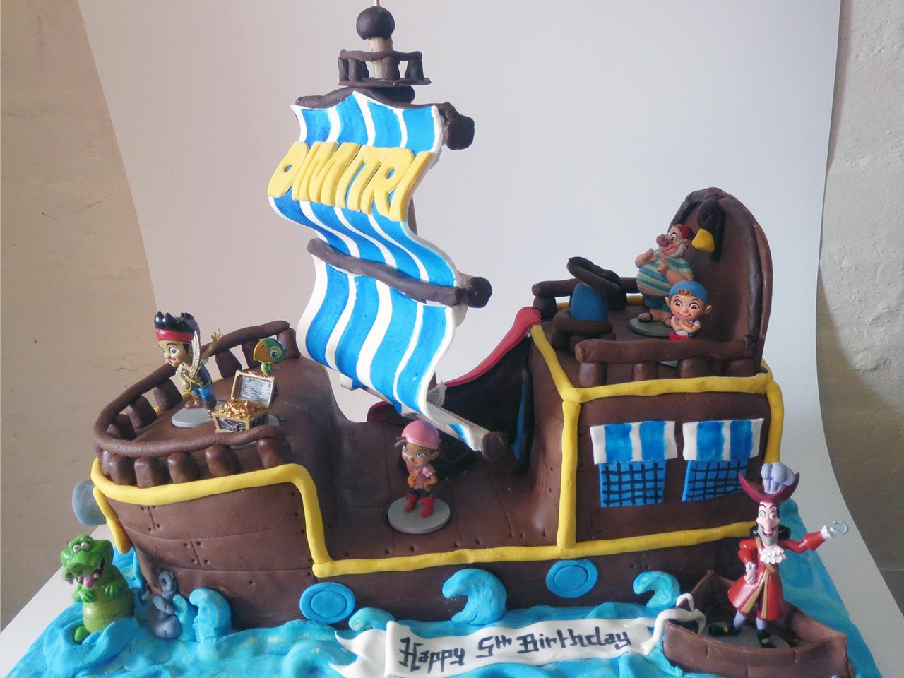 Peachy Captain Hook Themed Birthday Cake Three Sweeties Personalised Birthday Cards Arneslily Jamesorg