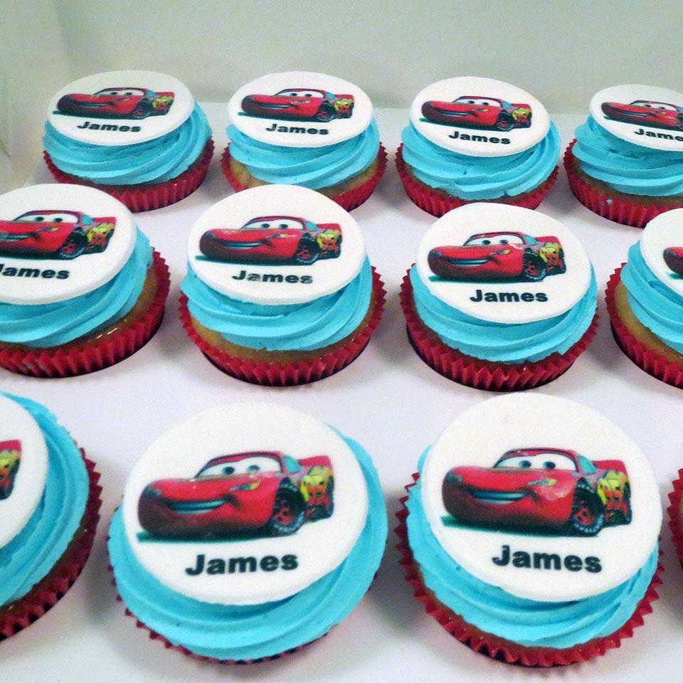 Cars themed cupcakes - Three Sweeties