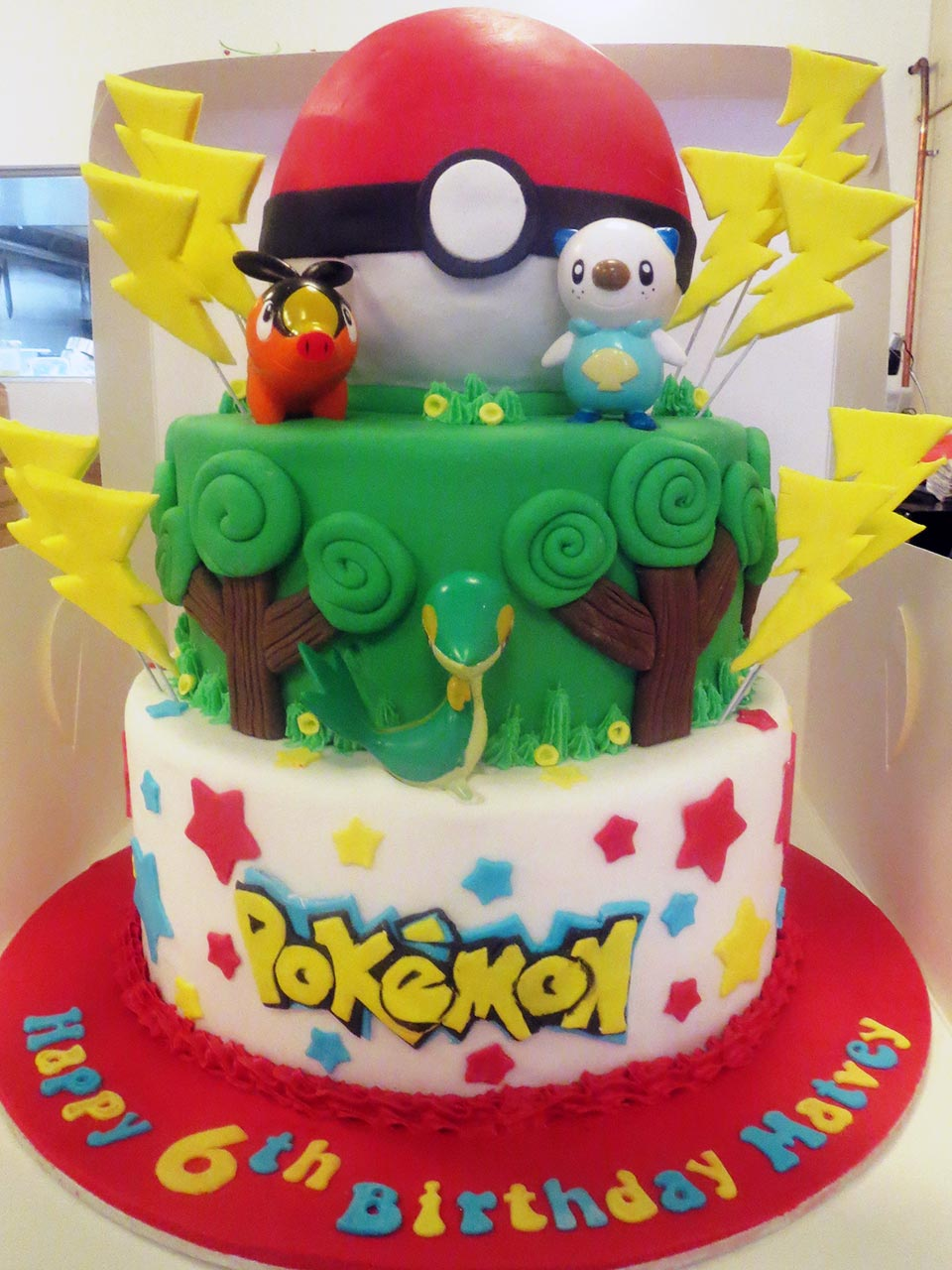 Pokemon 6th Birthday Cake Three Sweeties