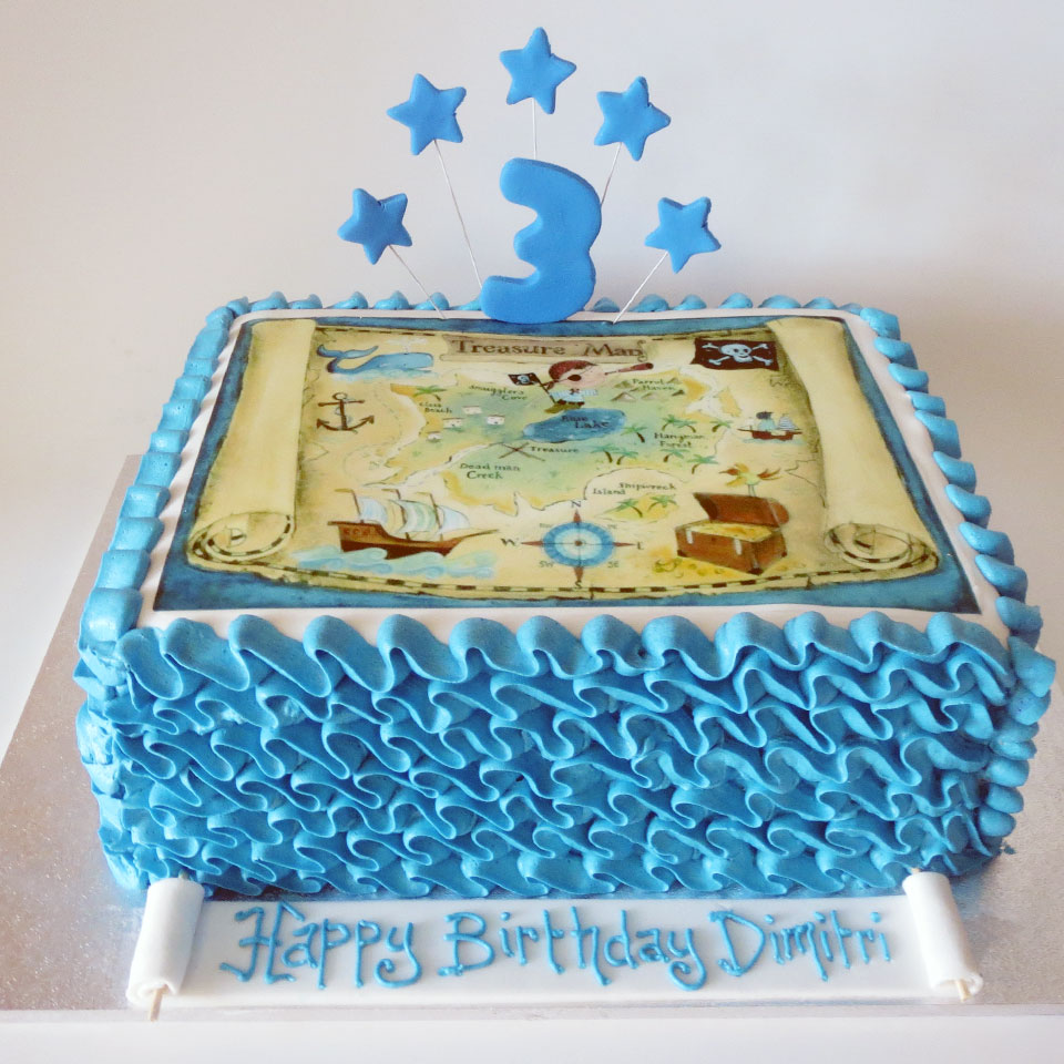 Treasure Map Birthday Cake Three Sweeties