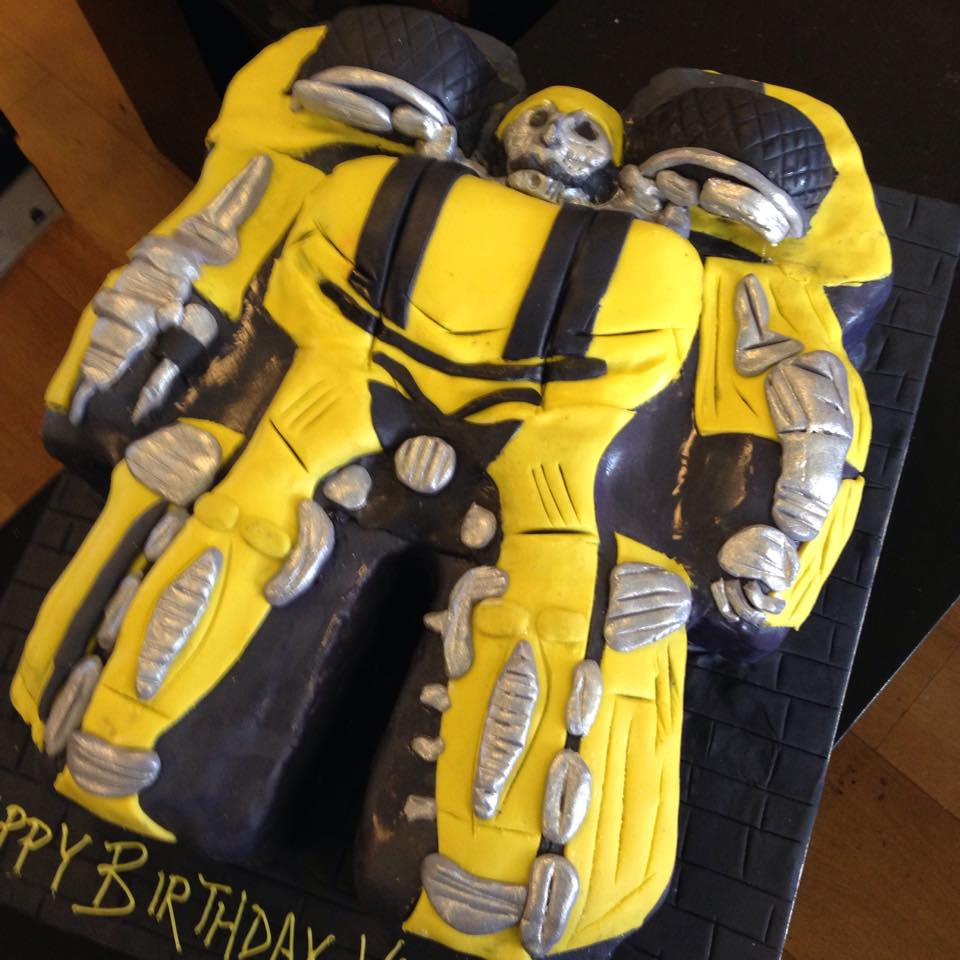 Wondrous Transformers Bumblebee Birthday Cake Three Sweeties Funny Birthday Cards Online Inifofree Goldxyz
