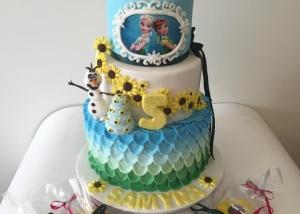 frozen-elsa-anna-olaf-birthday-cake