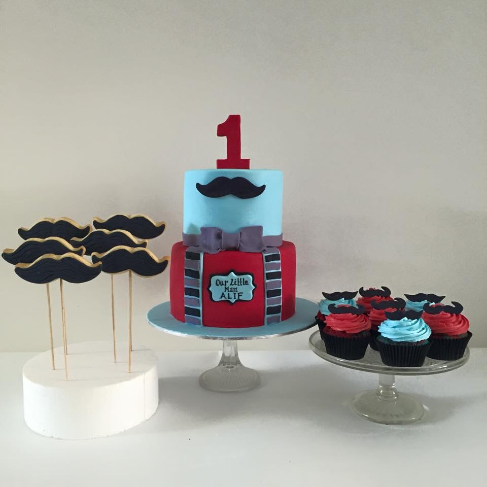 Little Man Themed First Birthday Cake Three Sweeties