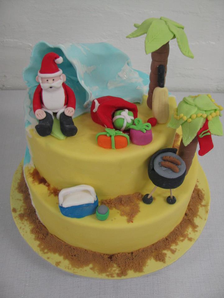 Aussie Summer Christmas Cake Three Sweeties