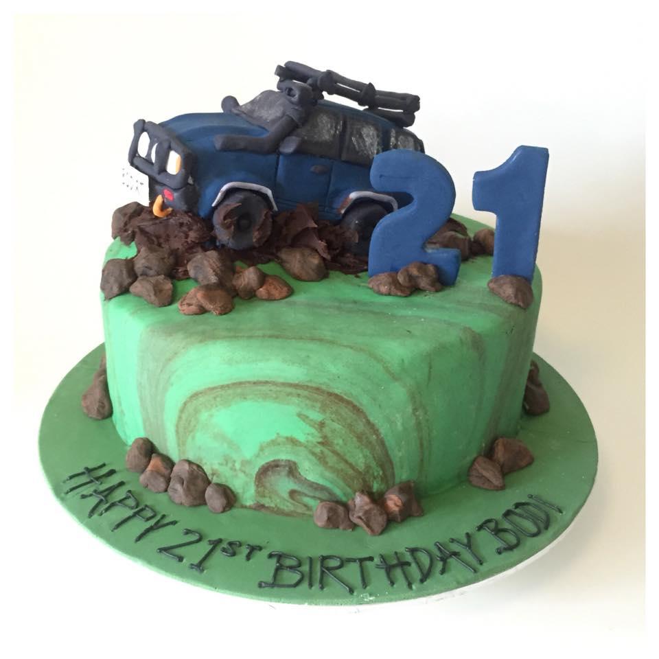 4wd 21st Birthday Cake Three Sweeties