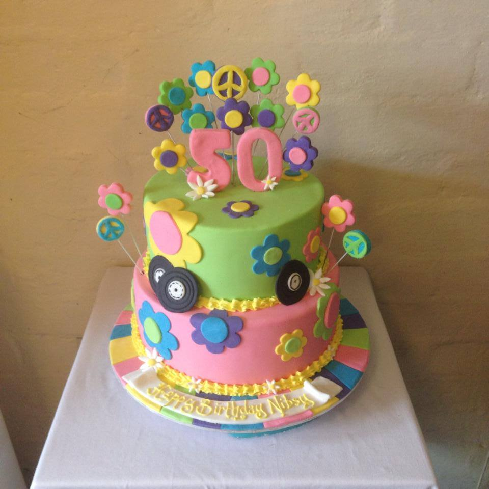 1960s Hippie Birthday Cake Three Sweeties