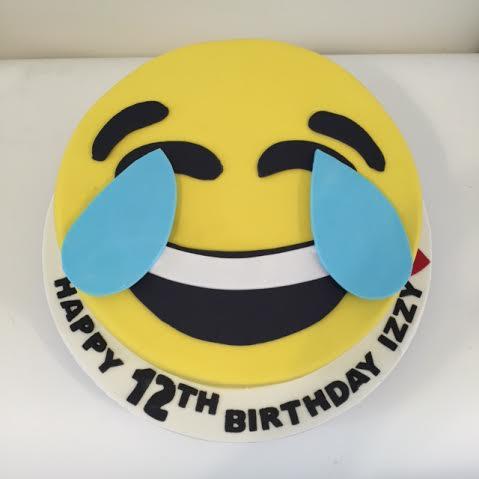 Emoji Birthday Cake And Matching Cupcakes