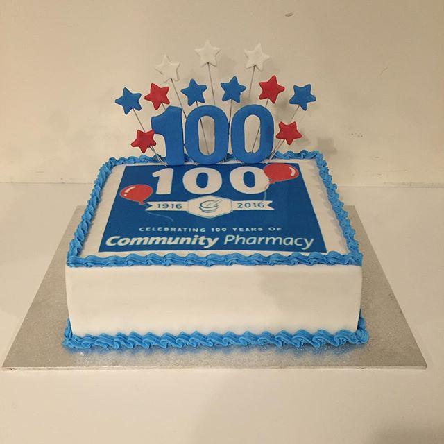 Corporate Birthday cake - Three Sweeties