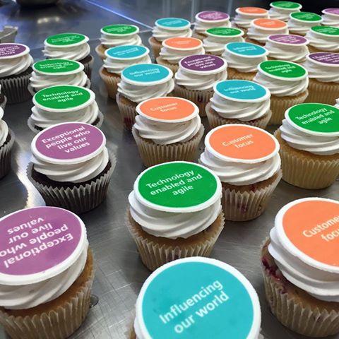 Corporate edible Image cupcakes