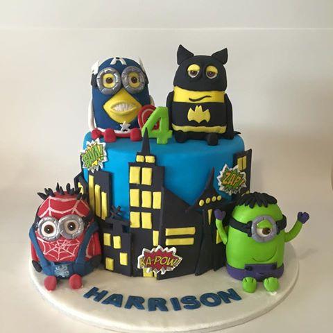 Minion Superhero Cake - Three Sweeties