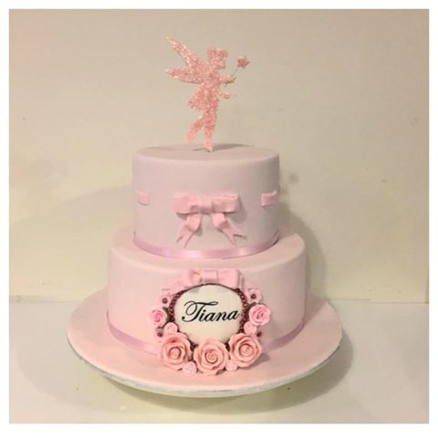 Pretty In Pink Fairy 1st Birthday Cake Three Sweeties