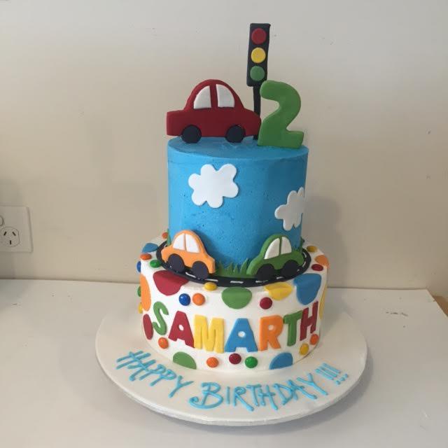 Sensational Buttercream Car Themed Birthday Cake Three Sweeties Personalised Birthday Cards Veneteletsinfo