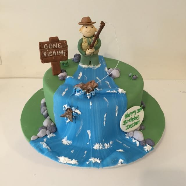 Strange Fly Fishing Cake Three Sweeties Funny Birthday Cards Online Alyptdamsfinfo
