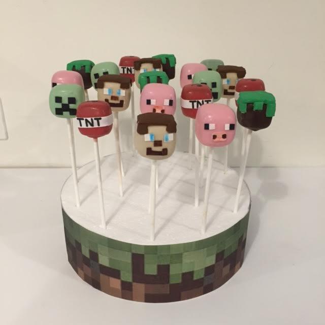 Minecraft Cake Pops Three Sweeties