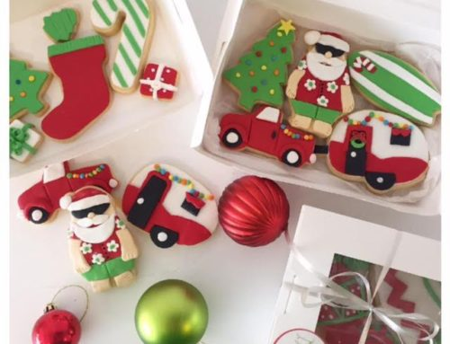 Aussie themed Christmas biscuits and traditional Christmas biscuits