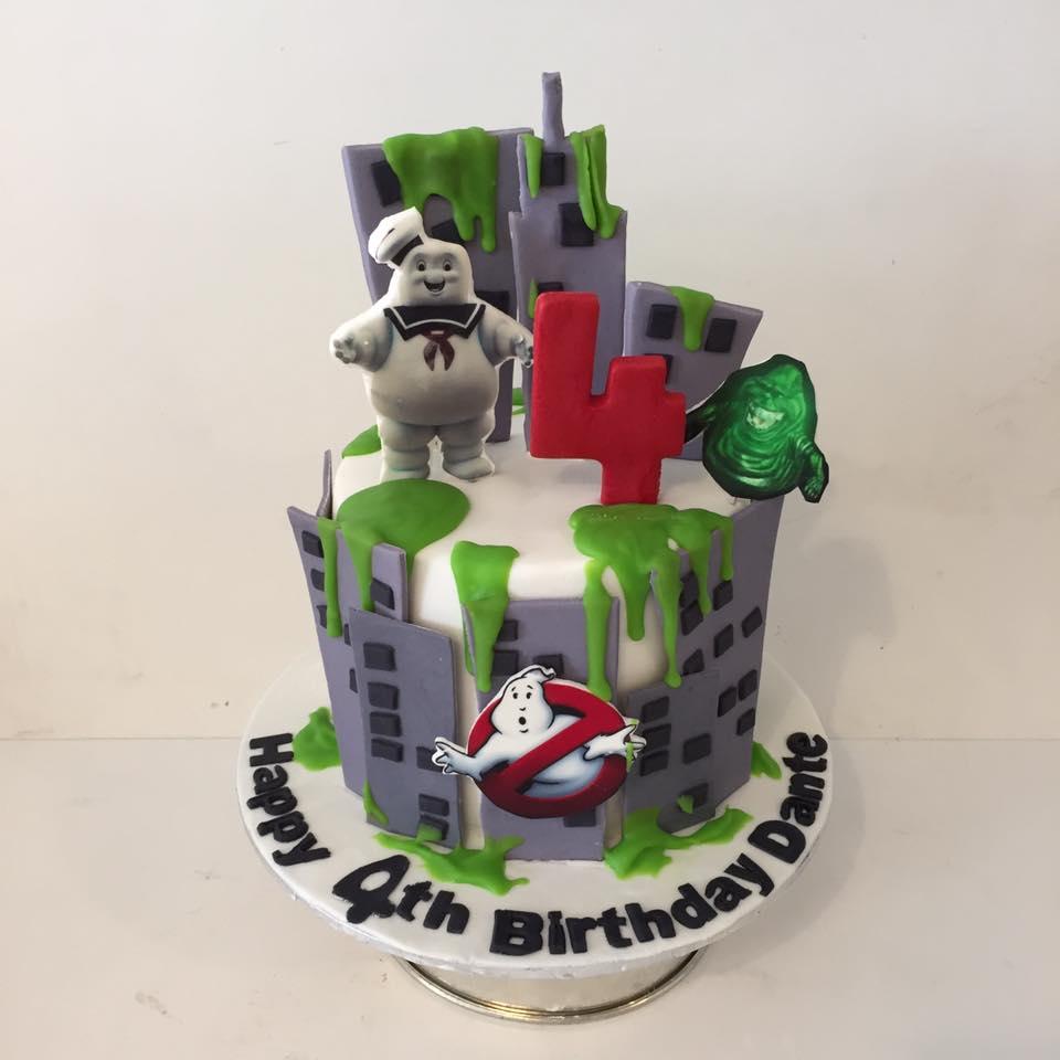 Outstanding Ghostbusters Cake Three Sweeties Funny Birthday Cards Online Alyptdamsfinfo