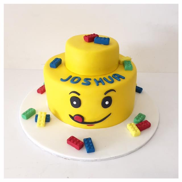 Lego Head Birthday cake - Three Sweeties