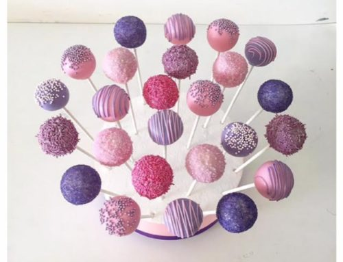 Pink & Purple cake pops