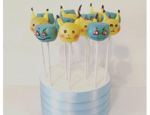Pokemon character cake pops