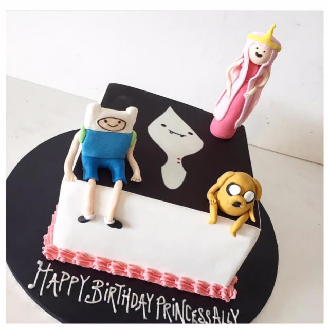 Swell Adventure Time Cake Three Sweeties Personalised Birthday Cards Paralily Jamesorg