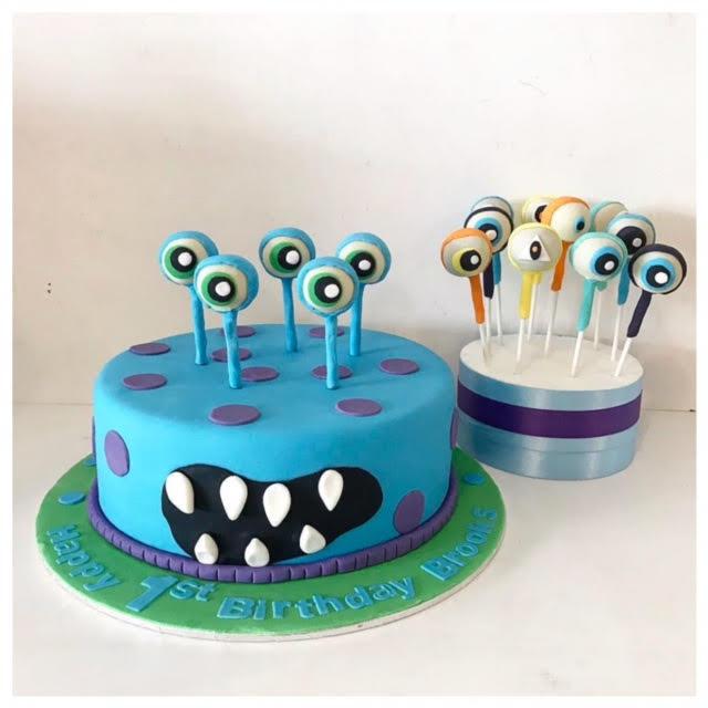 Miraculous Monster Cake Cake Pops Three Sweeties Funny Birthday Cards Online Alyptdamsfinfo