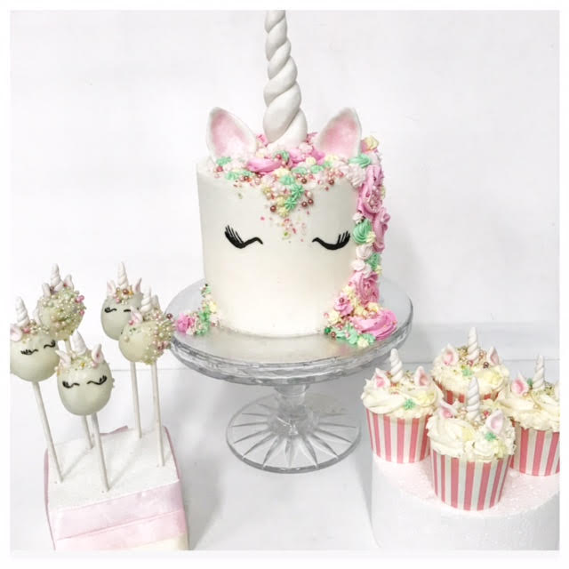 Admirable Unicorn Cake Cake Pops And Cupcakes Three Sweeties Funny Birthday Cards Online Alyptdamsfinfo