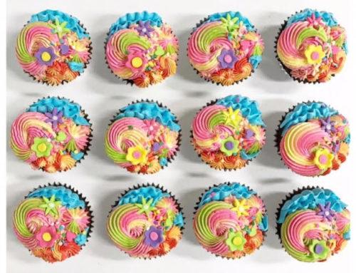 Colourful Rainbow cupcakes