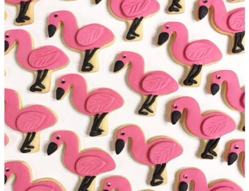 Pink Flamingo Biscuits