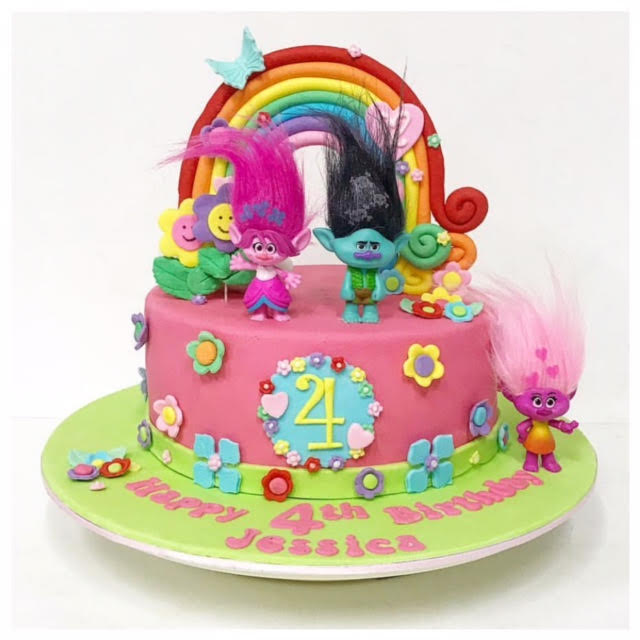 Trolls Birthday Cake Girl