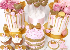 pink_gold_Birthday_party_cakes