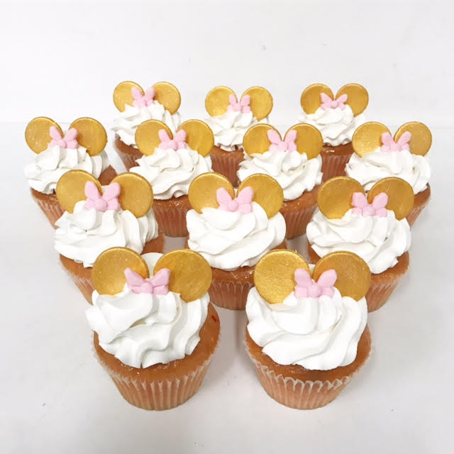 Minnie Mouse Cake Pops Pink And Gold