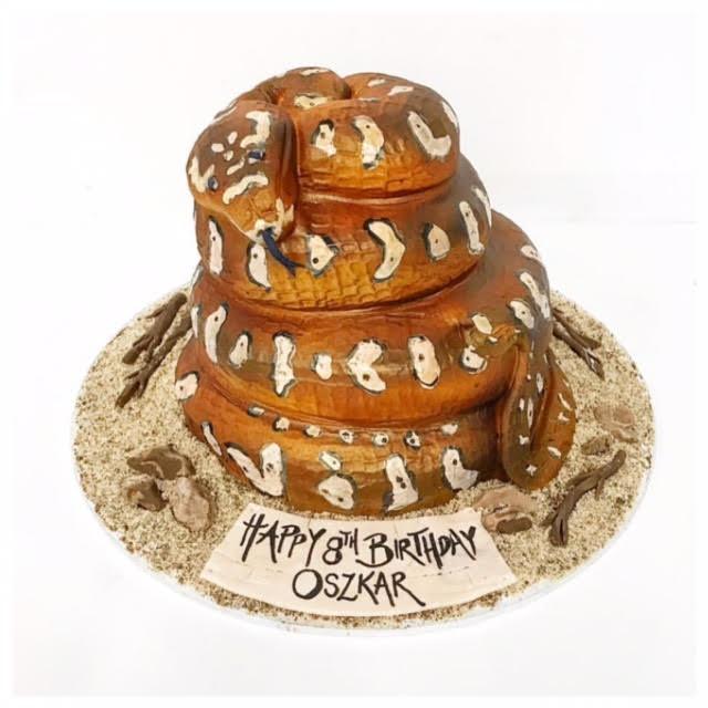 Fantastic Snake Cake Three Sweeties Funny Birthday Cards Online Amentibdeldamsfinfo