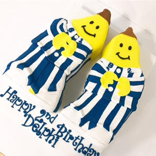 Bananas in Pyjamas birthday cake