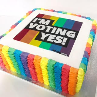 Rainbow Marriage Equality cake