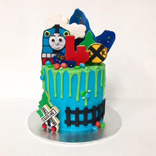 Thomas the Tank Engine drizzle cake
